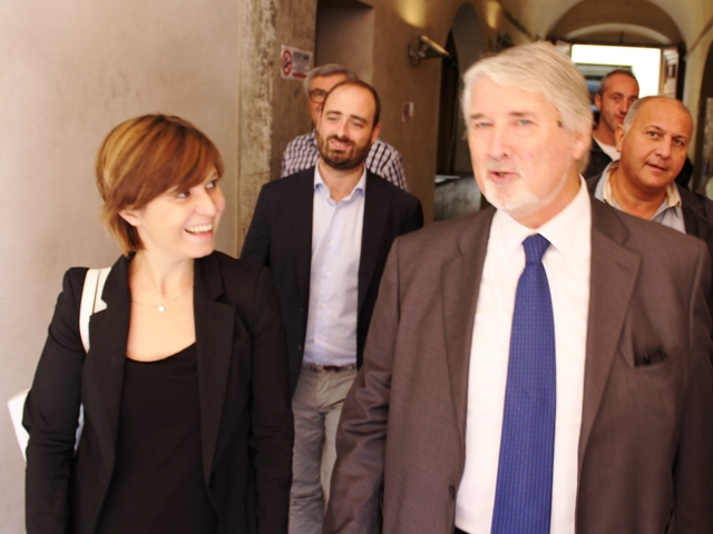 Giuliano Poletti e Brenda Barnini (foto gonews.it)