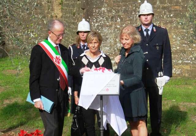 La commemmorazione delle due vittime precipitae nel 2006 dal Forte Belvedere