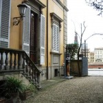Il  cortile di Casa Siviero a Firenze
