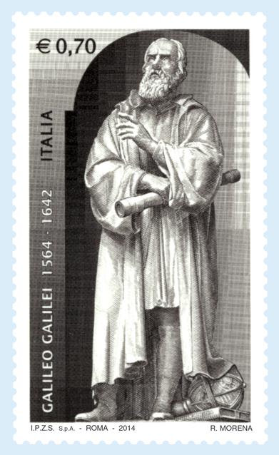 Il francobollo dedicato a Galileo Galilei