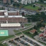Una veduta aerea dell'ospedale di Borgo San Lorenzo (da facebook)