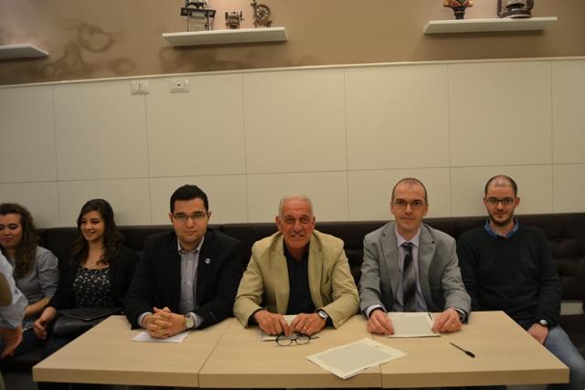 Un momento della presentazione alla stampa di Francesco Gracci (foto gonews.it)