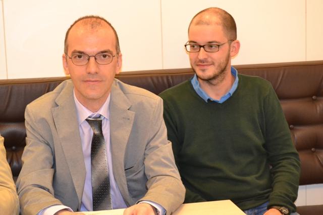 Antonio Bossa, a sinistra, e Davide Pelagotti (foto gonews.it)