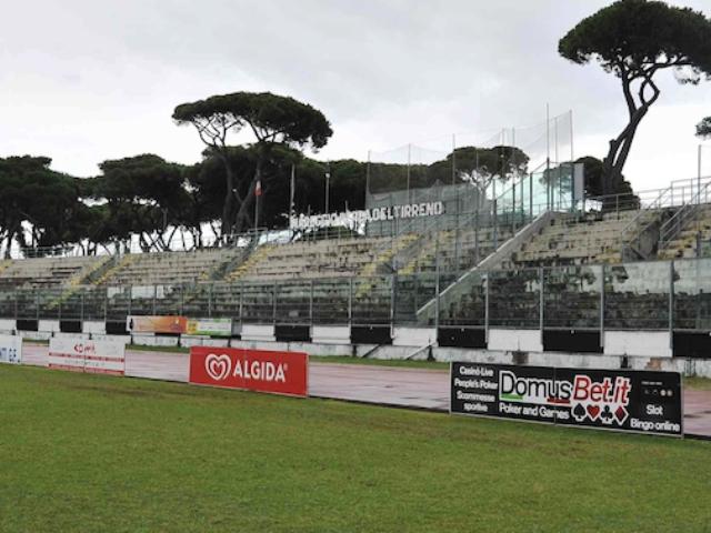 Lo stadio di Pini a Viareggio