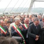 L'inaugurazione del ponte Leonardo Da Vinci