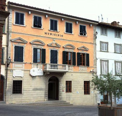 Il municipio di Peccioli