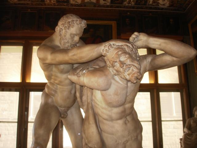 Il restauro di Ercole e il Centauro