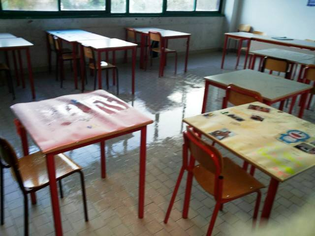 Un'aula dell'istituto Enriques