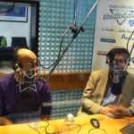 Alessandro Tozzi con Roberto Marzi a Radio Lady (foto gonews.it)