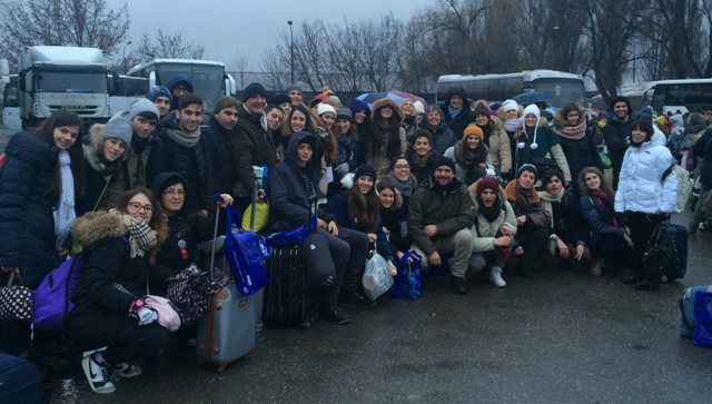 Il gruppo dell'Empolese Valdelsa con il sindaco Masetti, gennaio 2015