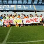 I ragazzi del 'Calcio SOciale' di Avane al Castellani