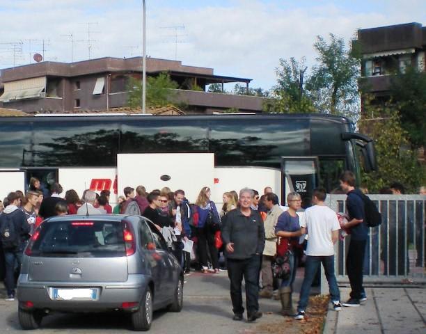 L'arrivo degli studenti