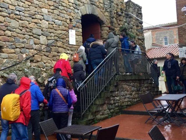 Turisti al Museo Leonardiano