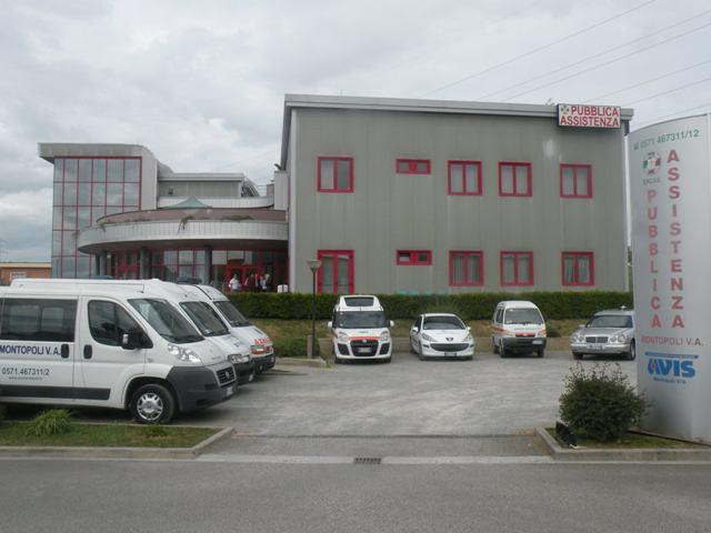 La sede di Via Mattei della Pubblica Assistenza di Montopoli in Val d'Arno