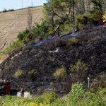 Incendio a Castelfiorentino, località Quattro Strade