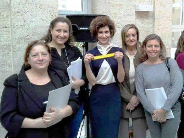 Da sinistra a destra Eleonora Gallerini, Maya Albano, Luisa Todini, Giuliana Tinghi e Cecilia Benassi