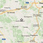L'epicentro del terremoto a Castelfiorentino, 25 ottobre 2016