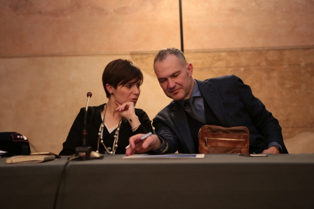 Il sindaco di Empoli Brenda Barnini e il dirigente del commissariato di Empoli Francesco Zunino