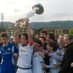 l'esultanza dei ragazzi dello Spezia vincitori nel 2016