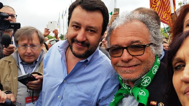 Matteo Salvini con Marco Cordone