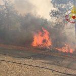 Incendio a San Pancrazio di Bucine