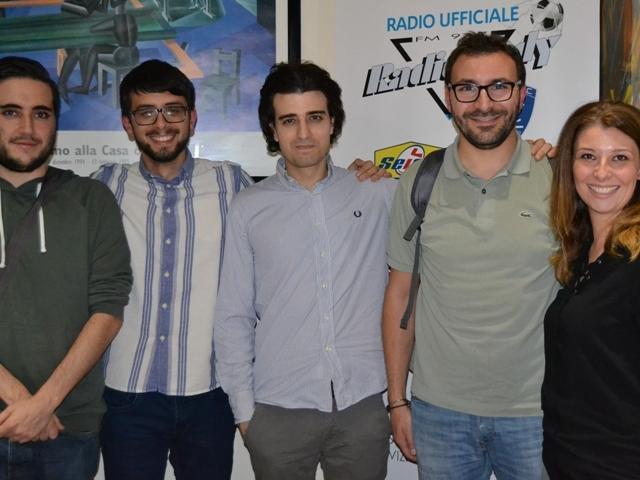 Da sinistra Gianmarco Lotti, Elia Billero, Giovanni Mennillo, Christian Santini, Chiarastella Foschini