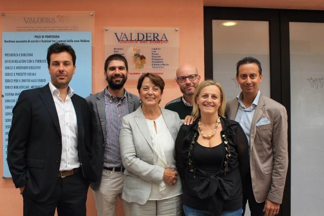 Da sinistra: Dario Carmassi, Marco Gherardini, Lucia Ciampi, Mirko Terreni, Arianna Cecchini e Alessio Lari