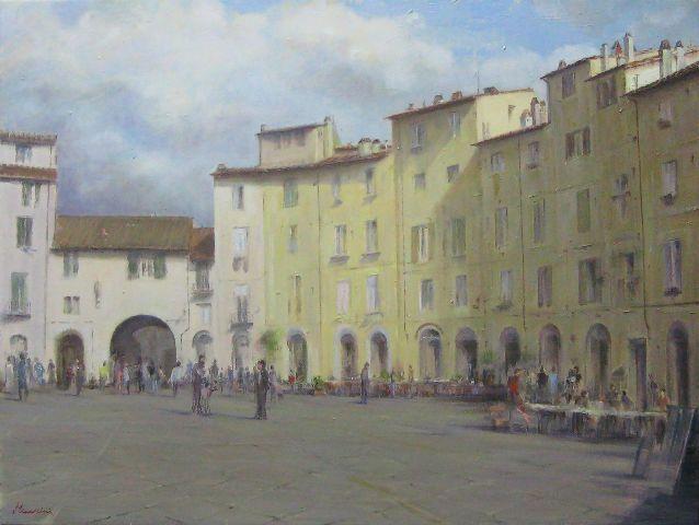 MARIO MINARINI - Lucca la piazza dell'anfiteatro