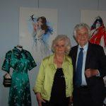 Nano Campeggi e sua moglie Elena in occasione della mostra sulle donne delle opere di Puccini al Lyceum