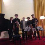 Il Maestro Riccardo Luciani sul palco del Lyceum