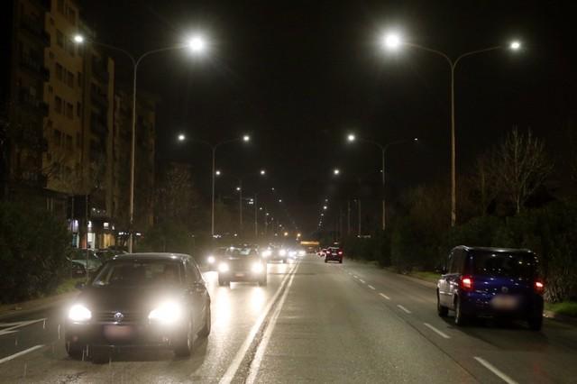Sostituzione con lampade al led di nuova generazione i lampioni di viale Guidoni presente Il sindaco con il pres Silfi Matteo Casanovi Cge fotogiornalismo