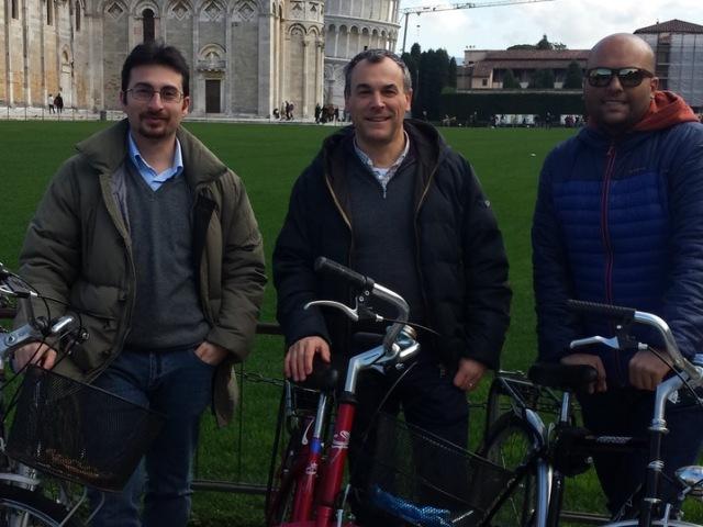 Nella foto il team del dipartimento di Ingegneria dell'Informazione che ha sviluppato il sistema, da sinistra a destra Ing. Andrea Michel, Prof. Paolo Nepa, Ing. Vittorio Franchina