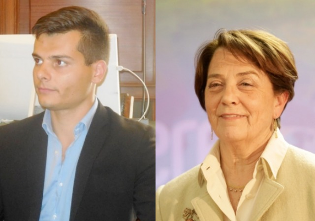 Da sinistra Edoardo Ziello e Lucia Ciampi