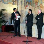 Fabrizio Frizzi premiato al Calindri di Certaldo nel 2008