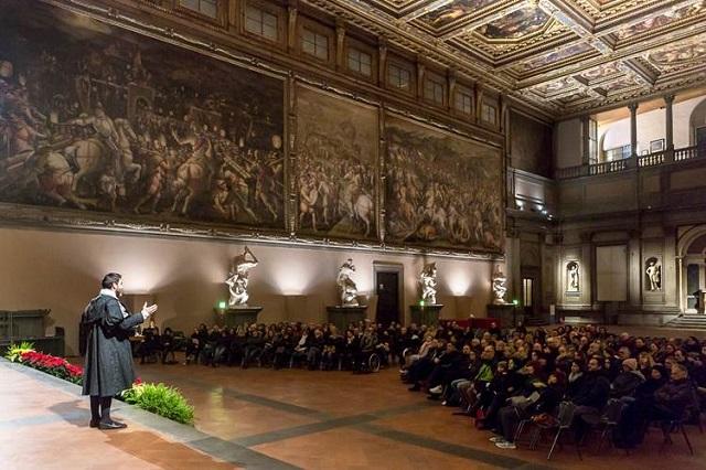 Sala Dei 500 Firenze.Giorgio Vasari Racconta Il Salone Dei Cinquecento Sotto Una