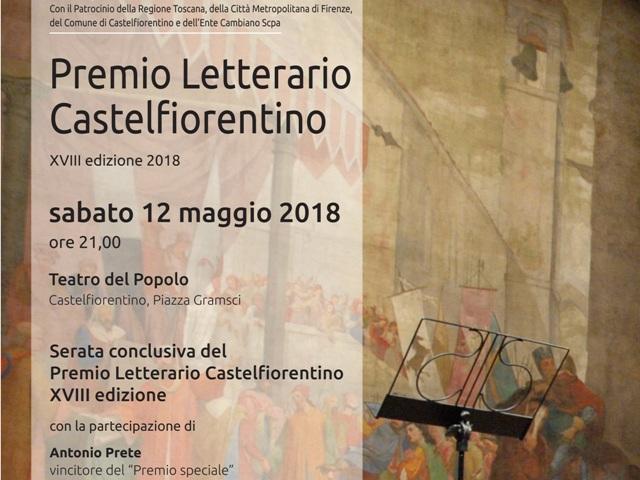 Locandina-serata premio letterario castelfiorentino 2018