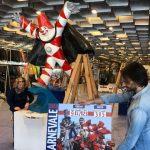 preparativi area dedicata al carnevale di viareggio alla mostra artigianato firenze (1)
