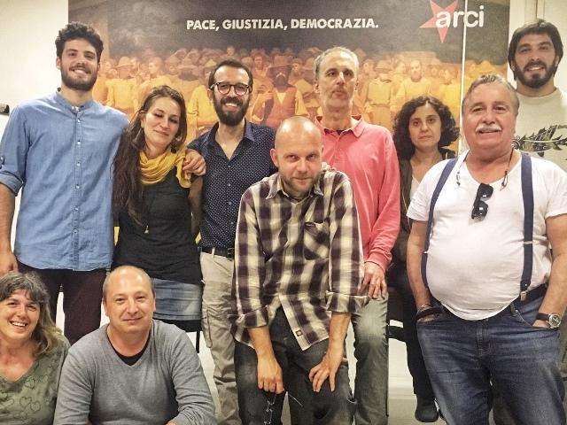 in alto da sinistra: Pietro Cardelli, Enrica Berti, Jacopo Forconi, Lorenzo Ballini, Marzia Frediani, Manfredi Lo Sauro. In basso Susanna Naldini, Daniele Crini, Marco Andrei, Silvano Malevolti.