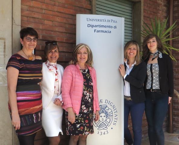 Da sinistra: Susi Burgalassi, Daniela Monti, Patrizia Chetoni, Silvia Tampucci, Eleonora Terreni