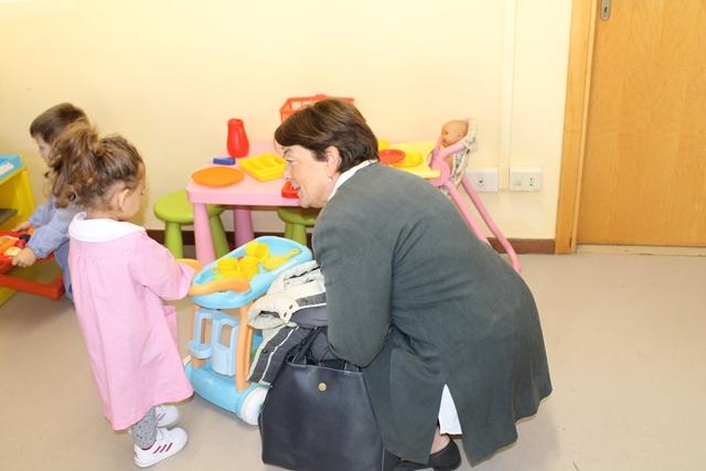 Il presidente dell'Unione Lucia Ciampi in visita alle scuole (1)