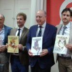 Rama, Pardini, Tambellini, Vietina, Moretti con i poster