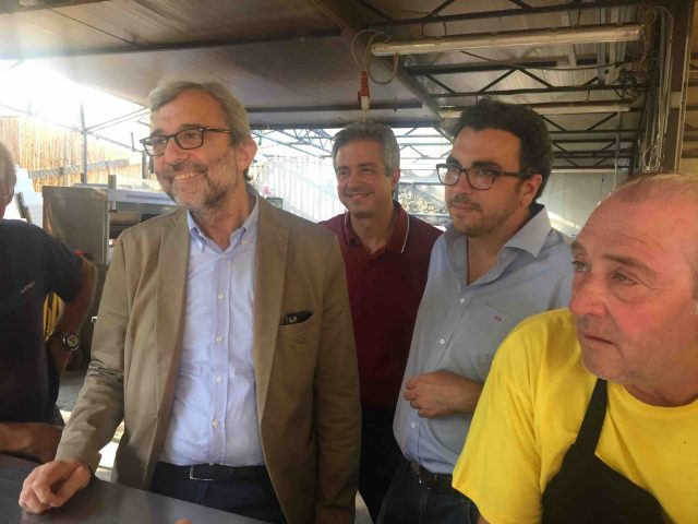 Roberto Giachetti a Pistoia a luglio 2018