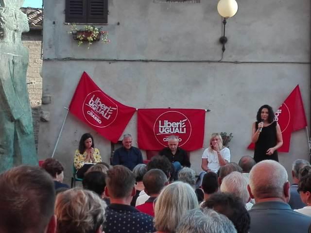 Sul palco da sinistra verso destra: Serena Spinelli, Pietro Grasso, Massimo Vanni (giornalista - La Repubblica), Daniela Lastri e Denise Latini.