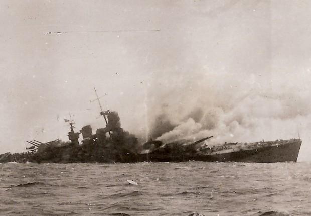 La corazzata Roma bombardata dai nazisti