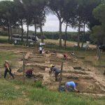 Il settore meridionale dell'area archeologica, in corso di scavo nella campagna 2018. Foto di D.Belcari