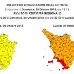 Allerta meteo per il vento per lunedì 29 ottobre 2018