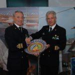 Ammiraglio Ispettore Capo Giovanni Pettorin e Comandante della Capitaneria di porto di Livorno, Contrammiraglio Giuseppe Tarzia
