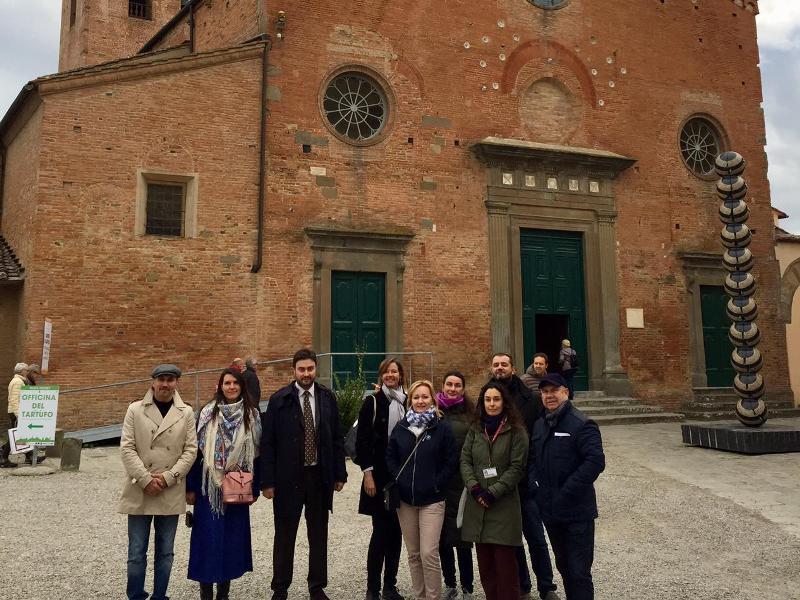 Terre di Pisa, tour operator stranieri in visita: tappa anche a San Miniato