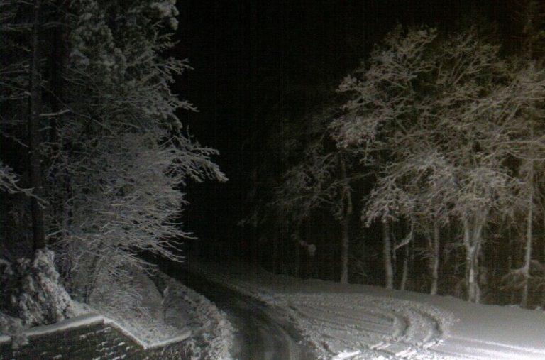 Neve sul Passo della Colla
