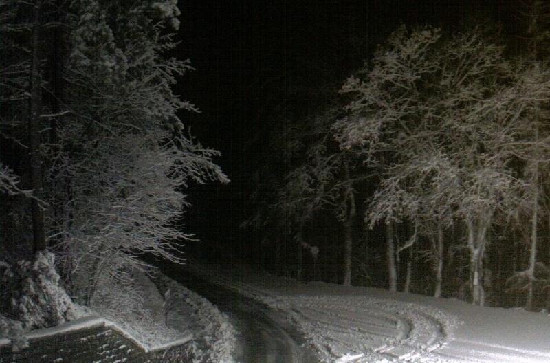 Arriva la neve sull'Appennino